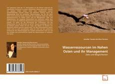 Bookcover of Wasserressourcen im Nahen Osten und ihr Management