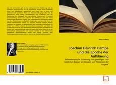 Bookcover of Joachim Heinrich Campe und die Epoche der Aufklärung