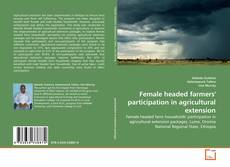 Portada del libro de Female headed farmers' participation in agricultural extension