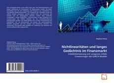 Borítókép a  Nichtlinearitäten und langes Gedächtnis im Finanzmarkt - hoz