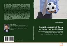 Bookcover of Investitionsbeschränkung im deutschen Profifußball