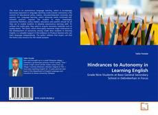 Обложка Hindrances to Autonomy in Learning English
