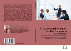 Buchcover von Internationalization of KIBS Franchise Company to Great Britain