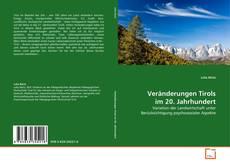Обложка Veränderungen Tirols im 20. Jahrhundert
