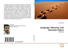 Buchcover von Language, Meaning, and Semantic Failure