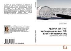 Portada del libro de Qualität von IFRS-Anhangangaben zum Off-Balance Sheet Financing