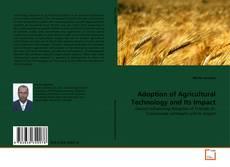 Portada del libro de Adoption of Agricultural Technology and Its Impact