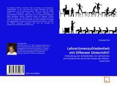 Bookcover of Lehrer/innenzufriedenheit mit Offenem Unterricht?