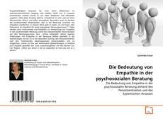 Portada del libro de Die Bedeutung von Empathie in der psychosozialen Beratung