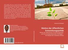 Portada del libro de Motive der öffentlichen Entwicklungspolitik