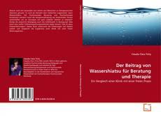 Portada del libro de Der Beitrag von Wassershiatsu für Beratung und Therapie