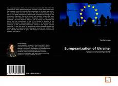 Couverture de Europeanization of Ukraine: