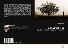 Buchcover von ART AS WITNESS