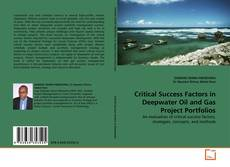 Buchcover von Critical Success Factors in Deepwater Oil and Gas Project Portfolios