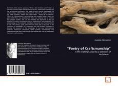 """Обложка """"Poetry of Craftsmanship"""""""