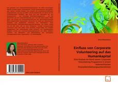 Buchcover von Einfluss von Corporate Volunteering auf das Humankapital