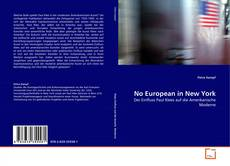 Bookcover of No European in New York