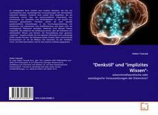 "Portada del libro de ""Denkstil"" und ""implizites Wissen""-"