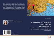 Buchcover von Markenrecht in Österreich und China im Rechtsvergleich