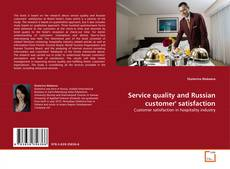 Portada del libro de Service quality and Russian customer' satisfaction