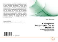 Portada del libro de Haftungen von Anlageberatern und der Meinl-Bank