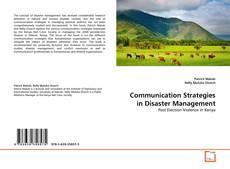 Buchcover von Communication Strategies in Disaster Management