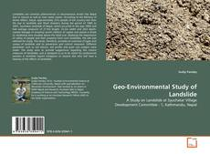 Обложка Geo-Environmental Study of Landslide