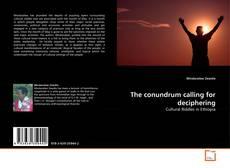 Capa do livro de The conundrum calling for deciphering