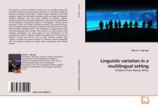 Copertina di Linguistic variation in a multilingual setting