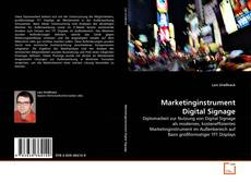 Bookcover of Marketinginstrument Digital Signage
