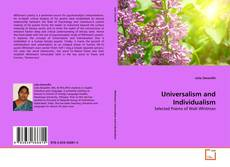 Bookcover of Universalism and Individualism