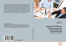 Bookcover of Impact of CSR on Organizational Commitment