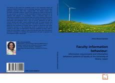 Copertina di Faculty information behaviour: