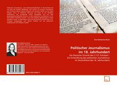 Обложка Politischer Journalismus im 18. Jahrhundert