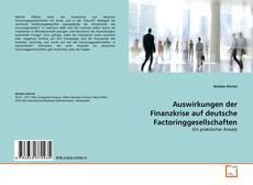 Portada del libro de Auswirkungen der Finanzkrise auf deutsche Factoringgesellschaften