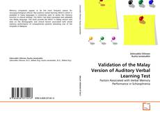 Couverture de Validation of the Malay Version of Auditory Verbal Learning Test