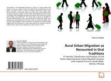 Rural Urban Migration as Recounted in Oral Traditions kitap kapağı