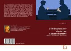 Copertina di Verbalklassen der deutschen Gebärdensprache
