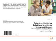Patientenedukation zur Dekubitusprävention bei Querschnittlähmung kitap kapağı