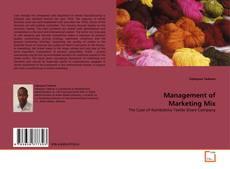 Capa do livro de Management of Marketing Mix