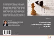 Wertorientierte Unternehmensführung in der Krise? kitap kapağı
