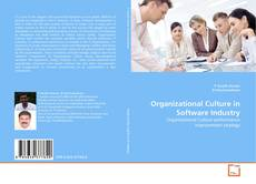 Bookcover of Organizational Culture in Software Industry