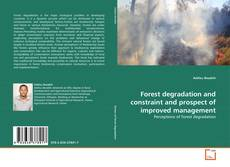Couverture de Forest degradation and constraint and prospect of improved management