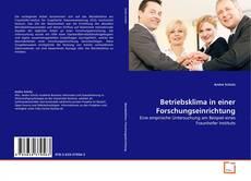Buchcover von Betriebsklima in einer Forschungseinrichtung
