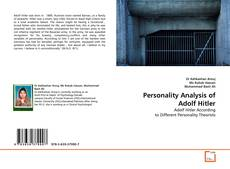 Personality Analysis of Adolf Hitler kitap kapağı