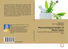 Bookcover of Pharmacological Studies of Dhatri Lauha