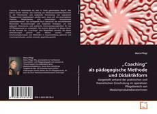 """Buchcover von """"Coaching"""" als pädagogische Methode und Didaktikform"""