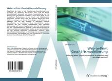 Capa do livro de Web-to-Print Geschäftsmodellierung