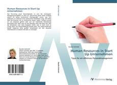 Buchcover von Human Resources in Start Up Unternehmen