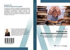 Capa do livro de Analyse der Risikomanagementangaben